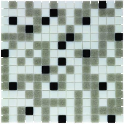 Milano Glasmozaiek Wit Grijs Zwart Mix