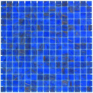 Milano Glasmozaiek Blauw Goud Ader