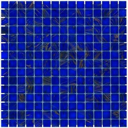 Milano Glasmozaiek Oceaan Blauw Goud Ader