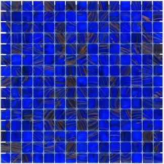 Milano Glasmozaiek Midden Blauw Goud Ader