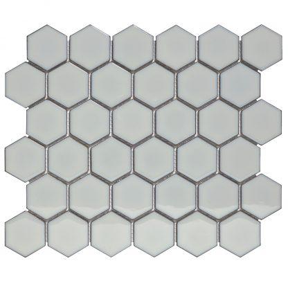 Torino Keramisch Mozaiek Licht Grijs Met Rand Glanzend