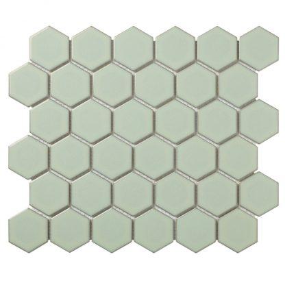 Torino Keramisch Mozaiek Licht Groen Met Rand Glanzend