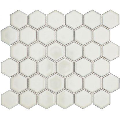 Torino Keramisch Mozaiek Zacht Wit Met Rand Glanzend