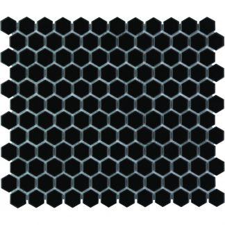 Torino Keramisch Mozaiek Zwart Hexagon