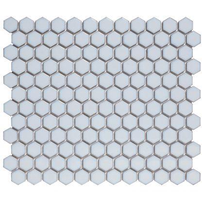 Torino Keramisch Mozaiek Licht Blauw Met Rand Hexagon