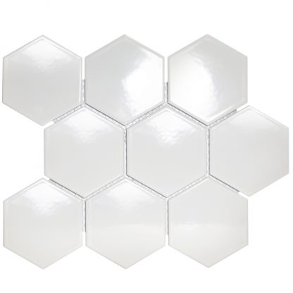 Torino Keramisch Mozaiek Wit Hexagon