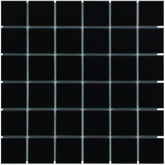 Torino Keramisch Mozaiek Zwart Mat Vierkant