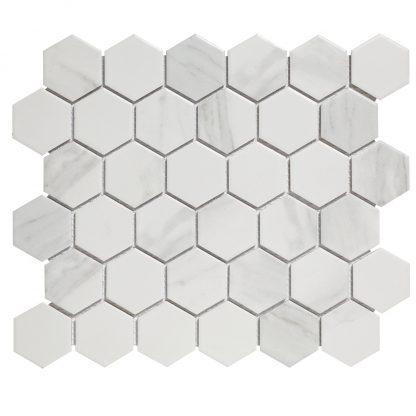 Torino Keramisch Mozaiek Mat Carrara Vierkant
