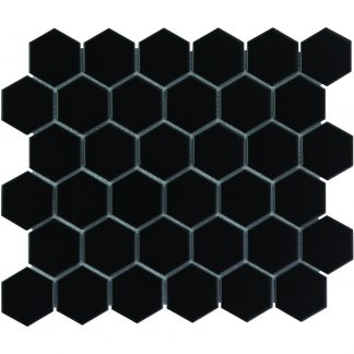 Torino Keramisch Mozaiek Mat Zwart Vierkant