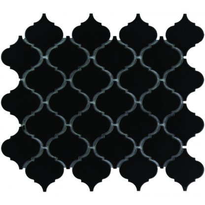 Rome Keramisch Mozaiek Zwart Glanzend 52 x 52