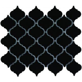 Rome Keramisch Mozaiek Zwart Mat 52 x 52
