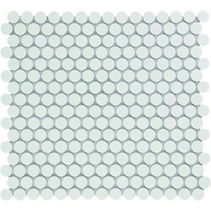 Valencia Wit Glanzend Keramisch Mozaiek Rond 19 MM