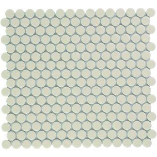 Valencia Creme Glanzend Keramisch Mozaiek Rond 19 MM