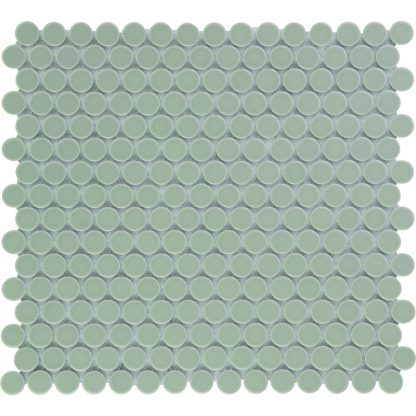 Valencia Grijs Glanzend Keramisch Mozaiek Rond 19 MM