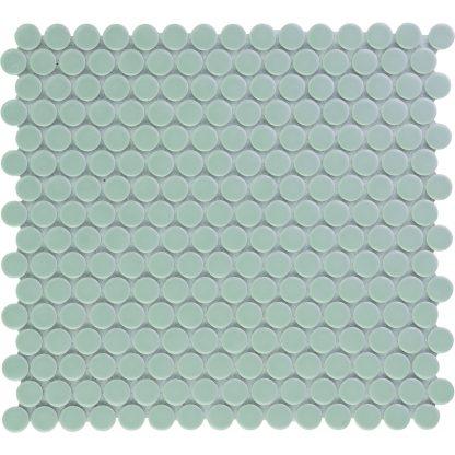 Valencia Grijs Blauw Glanzend Keramisch Mozaiek Rond 19 MM
