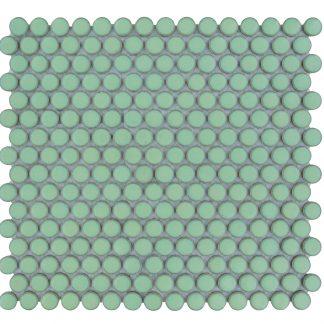 Valencia Licht Groen Glanzend Keramisch Mozaiek Rond 19 MM