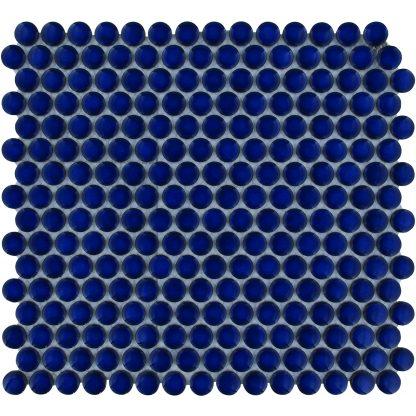Valencia Blauw Glanzend Keramisch Mozaiek Rond 19 MM