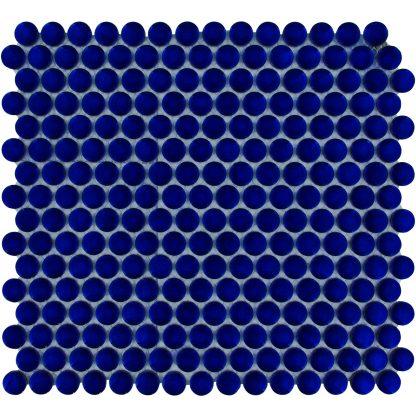 Valencia Kobalt Blauw Glanzend Keramisch Mozaiek Rond 19 MM