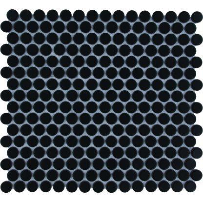 Valencia Zwart Mat Keramisch Mozaiek Rond 19 MM